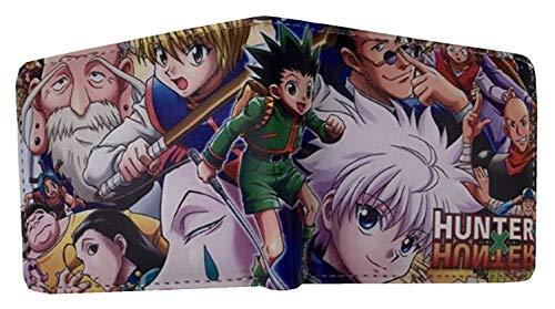 WANHONGYUE Hunter×Hunter Anime Cartera Billetera de Cuero para Hombre Tarjetas de Crédito Wallet Monedero 1022/1