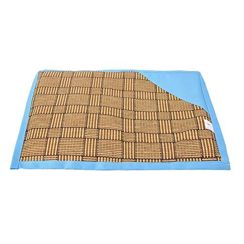 Weiyiroty Feuchtigkeitsbeständige Haustier-Schlafunterlage, Haustiermatte, für Hundekatze(Blue, S30*40)