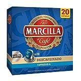 Marcilla - Marcilla Descafeinado Café Cápsulas Compatibles con Nespresso 20 Unidades, 1 x 104 g
