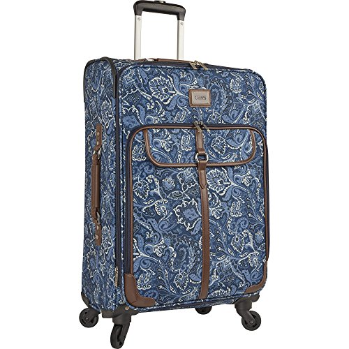 "Chaps 20"" Expandable Carry On Spinner Luggage, Indigo Paisley"