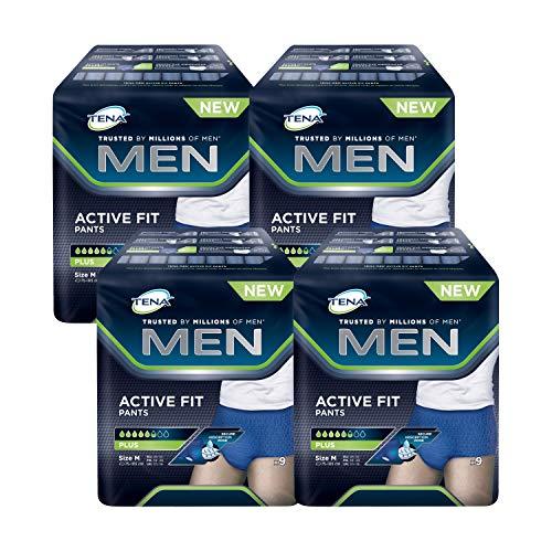 Tena, Active Fit Pants, Windelhose für Herren, Größe M, 36 (4x9)