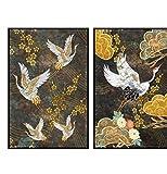 Cqzk Anstract Gemälde Goldene Taube Poster Wandbilder für