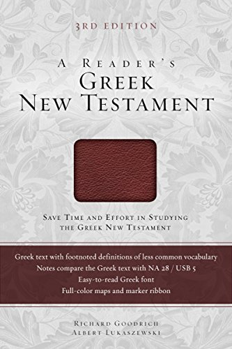 A Reader's Greek New Testament: Third Edition (English Edition)
