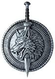 California Costumes Wolf Master Shield & Sword, Silver/Black, One Size