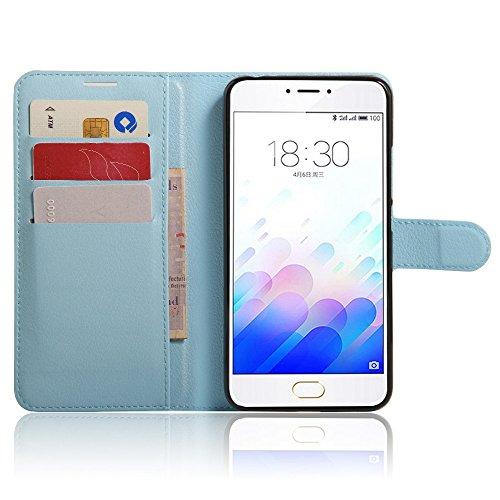 Ycloud Portafoglio Custodia per Meizu M3 Note Smartphone, Opaca Texture PU Pelle Magnetica Flip Caso Cover con Fessura Carte e Funzione Staffa (Nero)