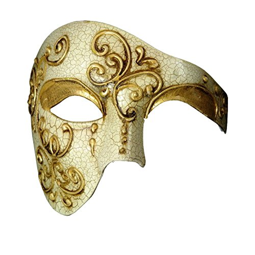 Burlesque-Boutique Half Face Mask Masquerade Phantom of The Opera BB004BK Black
