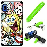 Hybrid Rugged Hard Cover Case Compatible with Galaxy [A10E] - Spongebob Friends (with Free Phone Stand Gift!)