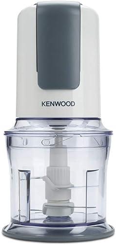 Kenwood Mini-hachoir Quadblade CH580, Système à 4 lames, Bol de 0,5L, 500 W, Blanc et Gris