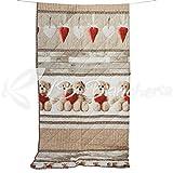 R.P. Trapunta Invernale Piumone Orsetti Teddy Love - Made in Italy - Cotone a Trama fitta - 2 piazze. Letto Matrimoniale