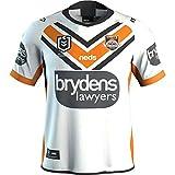 HBRE Maillot De Rugby,VêTements De Football De Sydney West Tiger, Football 2019,T-Shirt Homme,EntraîNement Respirant Textile,T-Shirt Formation des Adultes,White,L
