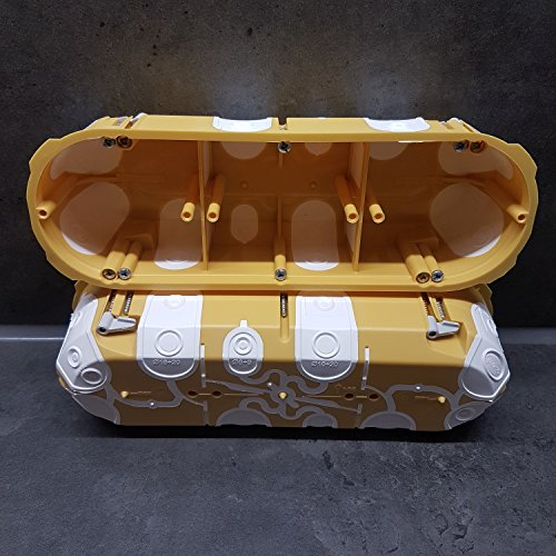 Schalterdose Unterputz 3fach Hohlwand Schalterdosen tief 41mm UP HW Dose