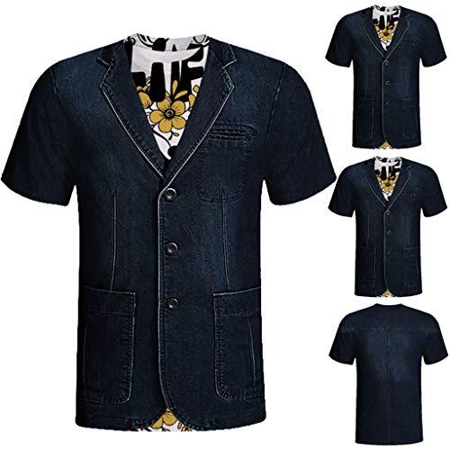 MCYs MCYs Herren Unisex Party Kleider 3D Gedruckt Oberteil Bluse Top T-Shirt