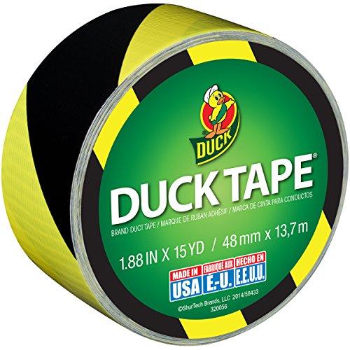 Duck 283972 EMW4592903, Black/Yellow Stripes, 15 Yards