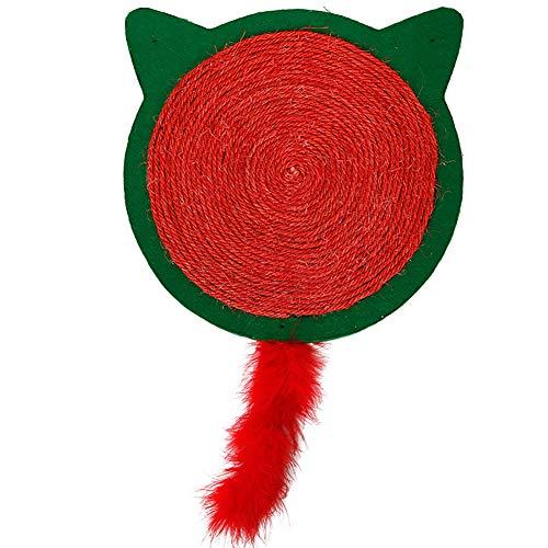 ETbotu Schlafmatte,Niedlichen Retro-Stil Katzenkratzbrett Pfote Schleifen Spielzeug Wanddekor Grün