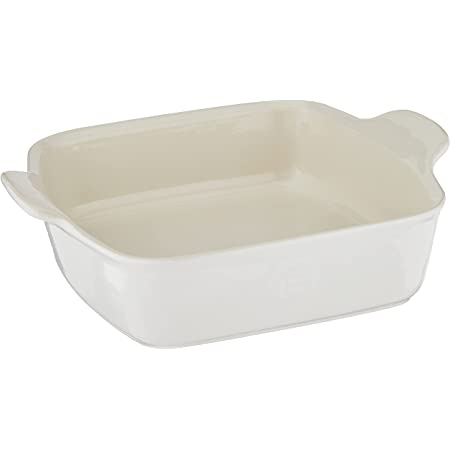 """Emile Henry Made In France HR Modern Classics Square Baking Dish 8 x 8"""" / 2 Qt, White"""