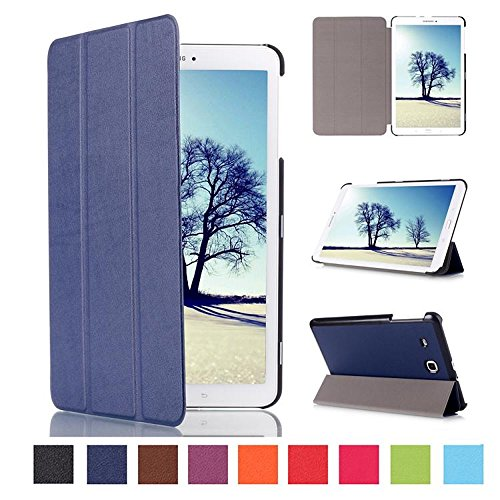 Galaxy Tab E 8.0 Tablet Case,Samsung Tab E Case 8.0,Tab E 8.0 Case,Samsung SM-T377a Tablet Case,Ultra Slim Premium PU Leather Folio Case for Samsung Galaxy Tab E 8.0-Dark Blue