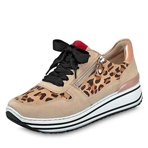 ara Damen SAPPORO Sneaker, Braun (Came, Rot/Rosegold 70), 43 EU(9 UK)