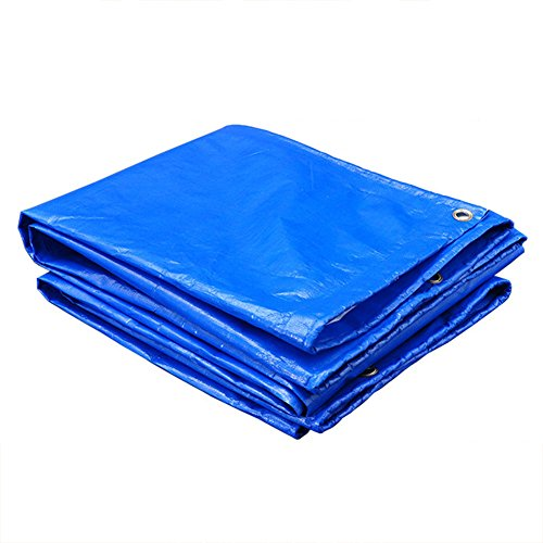 YYHSND Thickened Waterproof Cloth Waterproof Sunscreen Tarpaulin Truck Canvas Tarpaulin Outdoor Shade Awning Cloth Cover Cloth tarpaulin (Color : Blue+White, Size : 10x10m)