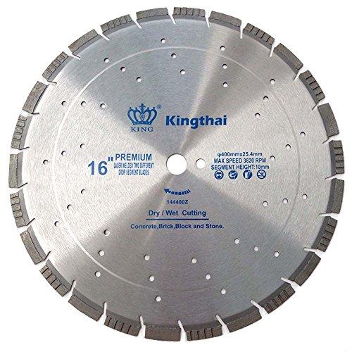 Kingthai 16 Inch Laser Welded Multi-Purpose Turbo Diamond Saw Blade for Concrete Asphalt Building