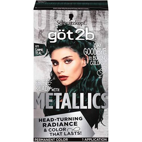 Got2b Metallic Permanent Hair Color, M75 Cosmic Teal