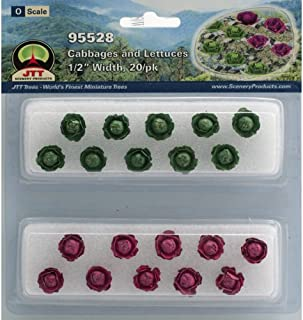 JTT Scenery Products Gardening Plants Cabbages and Lettuces O Scale Hobby Train Sceneries