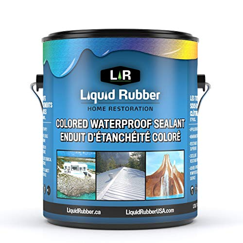 Liquid Rubber Color Waterproof Sealant - Indoor & Outdoor Coating - Easy to Apply - Water Based - Medium Gray, 1 Gallon