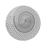 Rutschfreies Gummi-Rundmaus-Pad Türme-Dekor geometrische Helix-Spirale wie Unterwasserschale mit zyklischem Kunstdruck grauweiß 7.9'x7.9'x3MM
