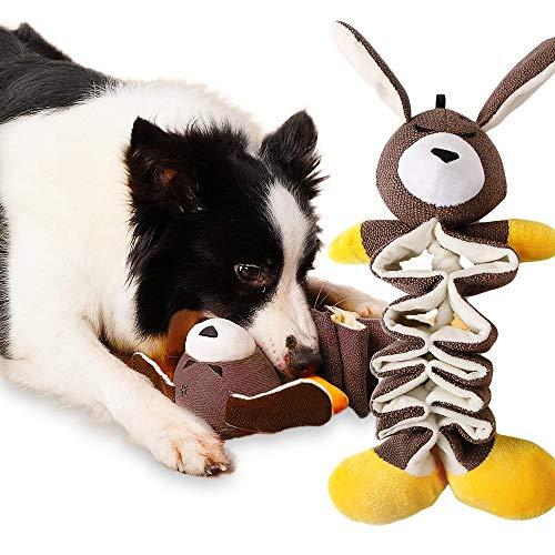 BACIVIC Hundespielzeug Kauen Hund Spielzeug Tiere Spielzeug Plüsch Teilweise Gefüllte Quietschende mit Crinkle Paper für Kleine und Mittel Hunde Intelligenz Training
