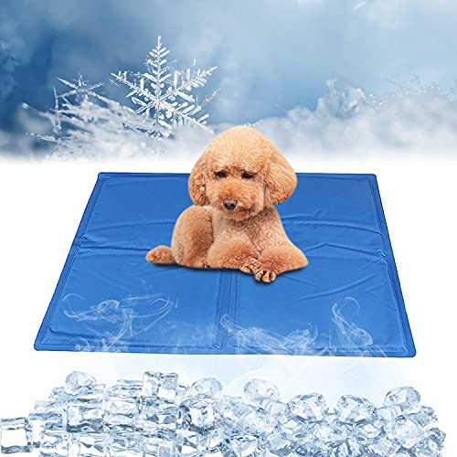 Enfriamiento para Camas de Mascotas,Alfombrilla de Refrigeración para Perros,Manta para Perro Fresco,Alfombra Fresca para Perros,Ideal para Perros Y Gatos En Verano(50*40 cm)