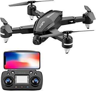 Ching Ching Drone 1080p HD Camera GPS Return Home Quadcopter with Follow Me Transmission for Adults Beginners