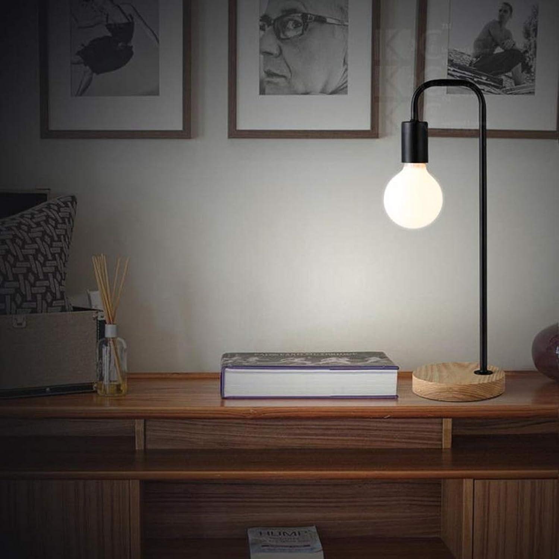 WZJ-TISCHLEUCHTE Log Series - Nordic Desk Decoration Night Light Einfache Schlafzimmerstudie Büro Holztischlampe (Farbe   schwarz)
