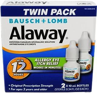 Alaway Antihistamine Eye Drops, 0.34 fl oz (Pack of 2)