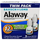 Bausch + Lomb Alaway Antihistamine Eye Drops, 0.34 Ounces/10 mL (Pack of 2)