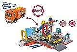 Smoby - 109251029002 - Sam le Pompier - Playset Camion Jupiter 2 en 1 Electronique - 1 figurine Sam + Quad