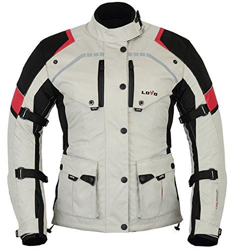 LOVO Chaqueta 3/4 para moto (Mujer) (L)