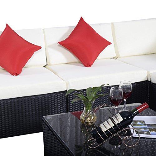15tlg.Rattan Set Gartenmöbel Lounge Polyrattan Sitzgruppe Rattanmöbel Garnitur Garten - 6