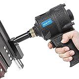 NEWTRY Perforadora de agujeros de aire industrial de 8 mm para perforar agujeros neumáticos, herramienta de brida, perforadora de mano de metal profundo (tamaño del agujero, 8 mm)