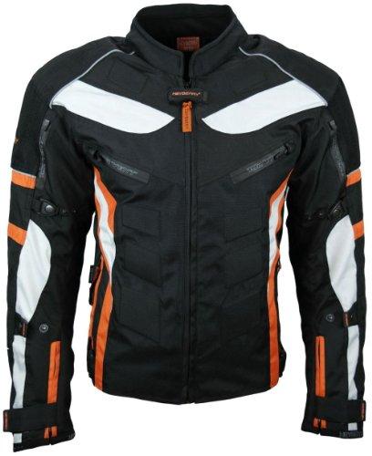 Heyberry Textil Motorrad Jacke Motorradjacke Schwarz Orange Gr. M - 2