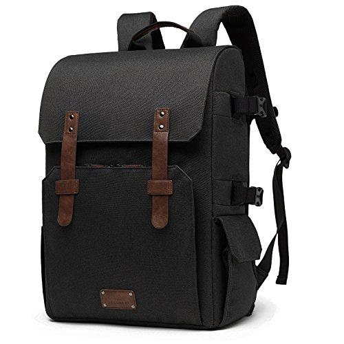 BAGSMART Camera Backpack for SLR/DSLR Cameras & 15.6' Laptop with Waterproof Rain...