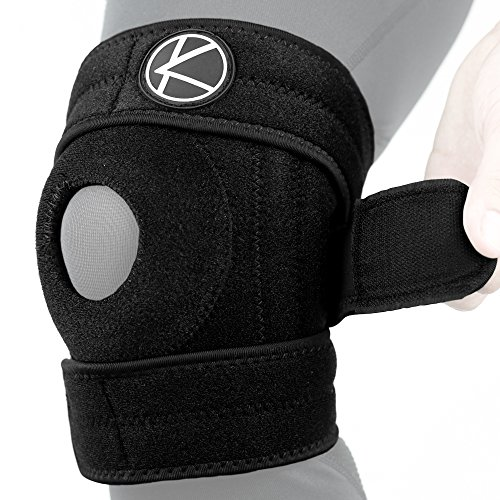 Adjustable Copper Knee Brace - Best Open Patella Knee Stabilizer Wrap & Plus Size Copper Knee Support for Arthritis Pain, ACL, MCL, LCL, Meniscus Tear, Sports, Exercise, Running, Women, Men (Size 3)