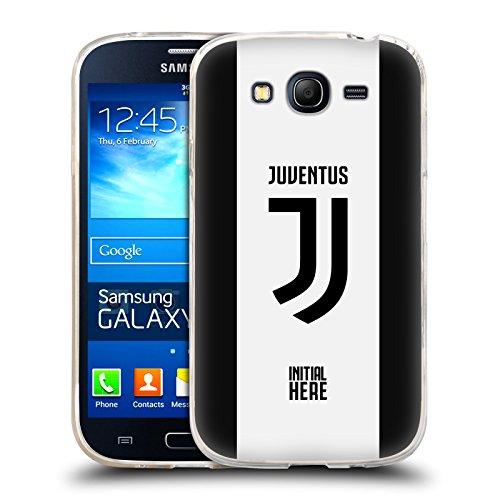 Head Case Designs Personalizzata Personale Juventus Football Club Strisce in Grassetto Cover in Morbido Gel Compatibile con Samsung Galaxy Grand Neo