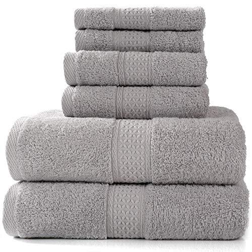 MSNLY Handtuchset, schnell trocknend, 1 Badetuch und 2 Handtücher 70x140cm, 33x33cm, 34x75cm 885g / m² Duschtuch 100% Baumwolle, (grün)