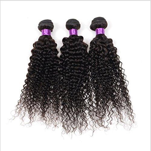 cjcaijun Extensions de Cheveux (Taille 8inch À 26inch Ink Kinky Rideau De Cheveux Bouclés for Femmes Brésiliennes Humain Vraiment Postiches Extensions de Cheveux Noirs Naturels 100g (Size : 20 inch)