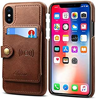 IPhone XS Max fashion leather case multifunction wallet cover with credit card Holder dropproof shockproof Protective Slee...
