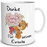TRIOSK Tasse Danke lustig mit Spruch Bären Einsatz Dankeschön für Alles Geschenk Dankessprüche...