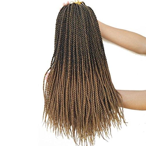 Flyteng Small Senegalese Twist Crochet Hair Braiding Hair 8Packs 18' crochet braids Synthetic Twist Hair For Women