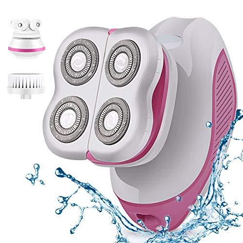 [Novedad 2021] Afeitadora eléctrica para mujeres, afeitadora para dama indolora 3 en 1, impermeable y recargable, depiladora corporal femenina, depilación de piernas, brazos y líneas