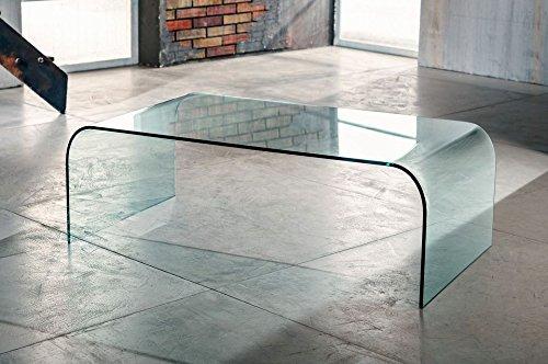 IMAGO FACTORY Grace - Tavolino da Salotto - Ponte in Vetro...
