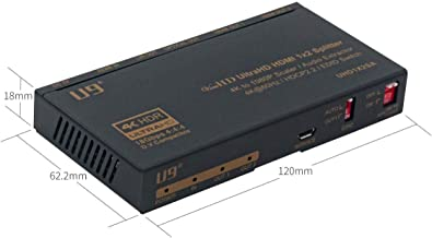 U9 ViewHD HDMI 1x2 Splitter & Audio Extractor | HDMI v2.0 | 4K@60Hz | 4K to 1080P Scaler | HDR & Dolby Vision | 3.5mm / Optical & HDMI Receiver | Best Multi-Functional 1x2 on Earth | Model: UHD1X2SA