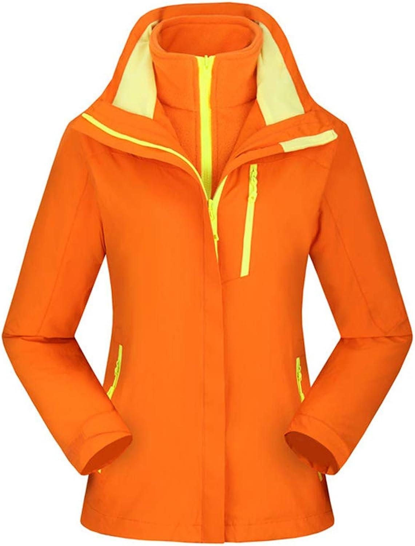 Insun Women's Outdoor Waterproof Warm Coral Fleece 3in1 Hooded Jacket